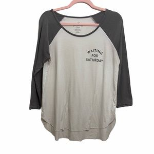"""American Eagle """"Waiting for Saturday"""" Long Sleeve"""